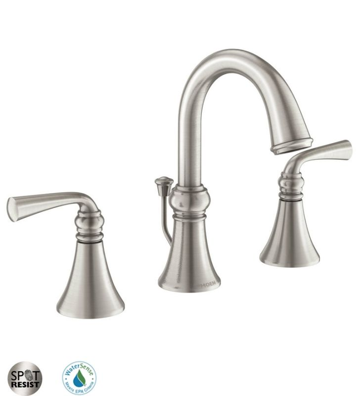 faucet com 84855srn in spot resist brushed nickel by moen