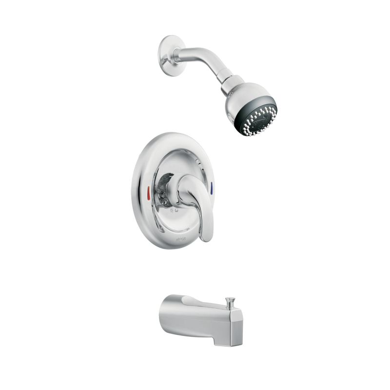 upc product image for moen tub and shower faucet single handle adler chrome finish lever