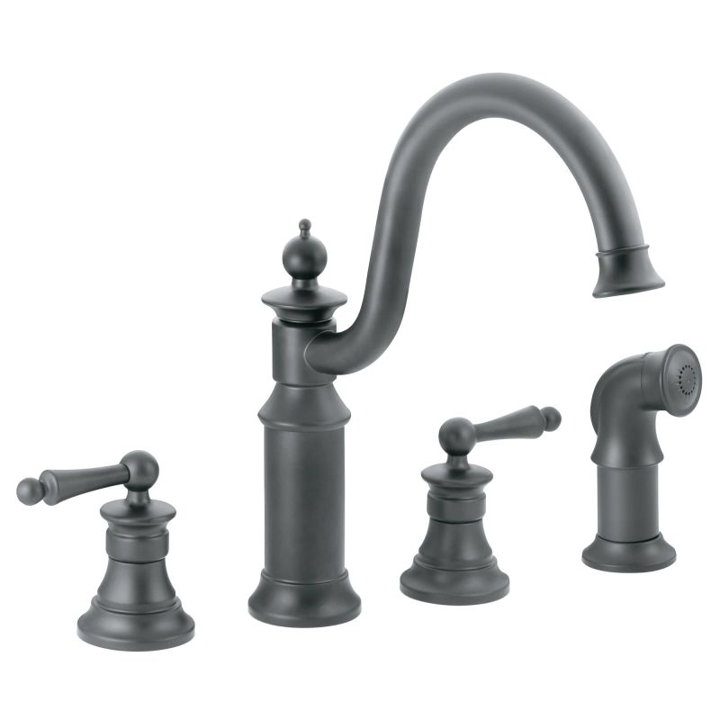 Wrought Iron Bathroom Faucets: S712WR In Wrought Iron By Moen