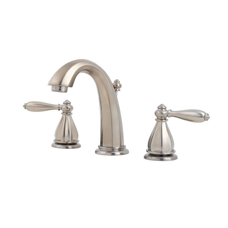 Widespread Bathroom Faucet Clearance : ... Nickel Portola Widespread Bathroom Faucet with Metal Pop-Up Assembly