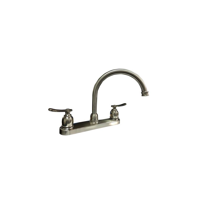 faucet com pfxc1440lsbn in brushed nickel by proflo proflo pfxc3022cp polished chrome double handle kitchen