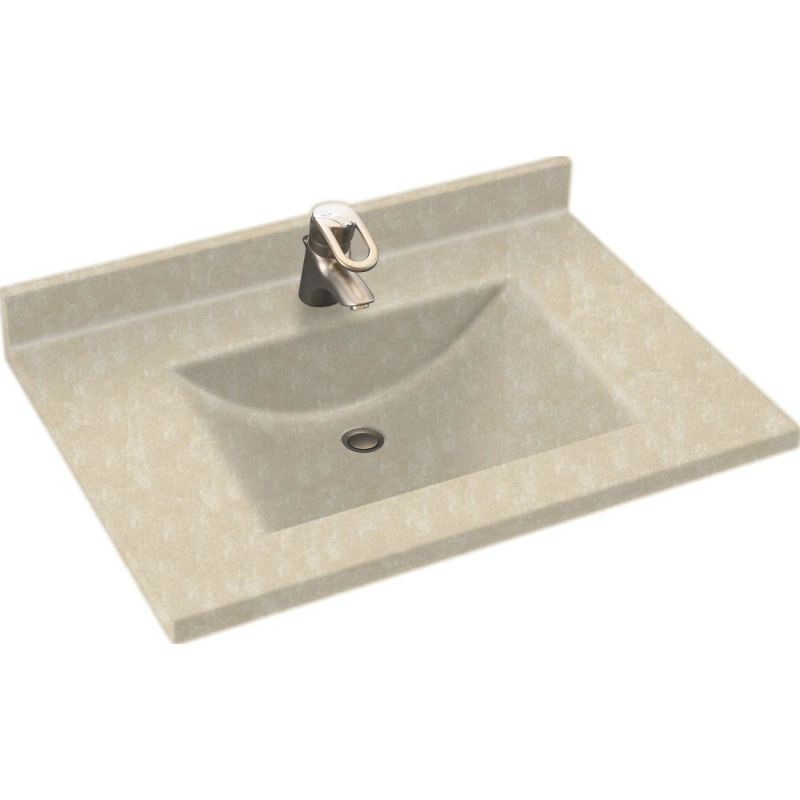Swanstone Sinks : Swanstone CV02231.126 Cloud Bone Contour One Piece Vanity Top and Sink ...