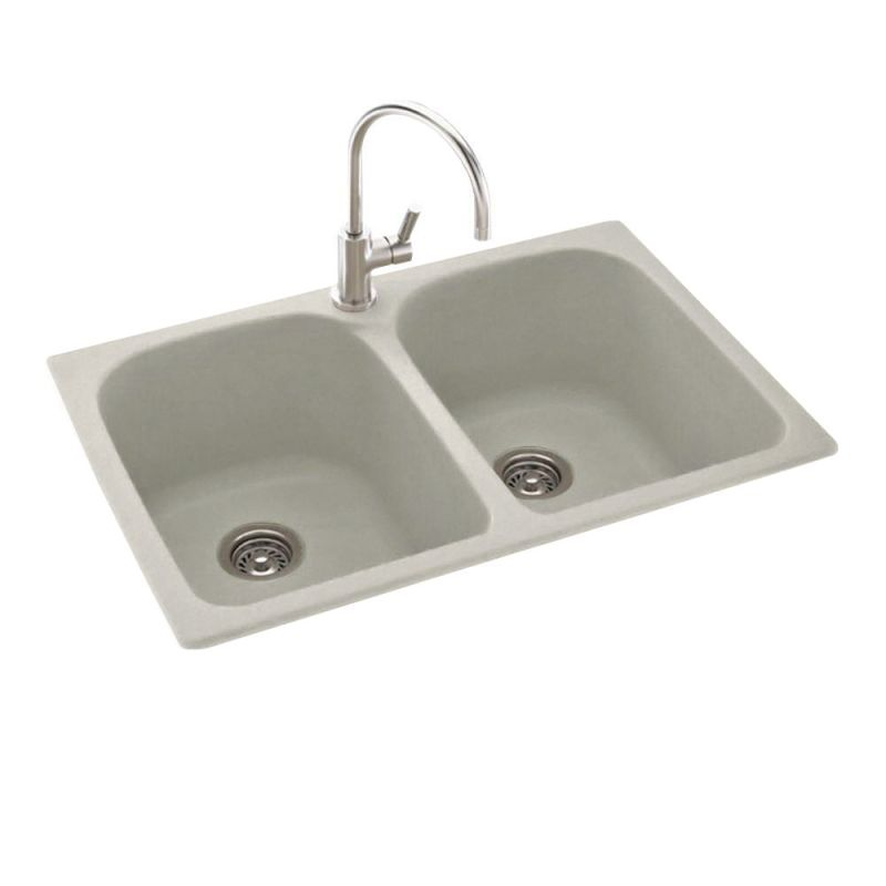 Swanstone Sinks : Swanstone KSLB-3322 Glacier Swanstone KSLB-3322 Kitchen Sink Double ...