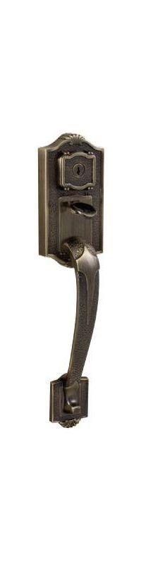Antique Brass External Handle Only Weslock 01414-A--002D Lexington 1400 Series Entry Handle