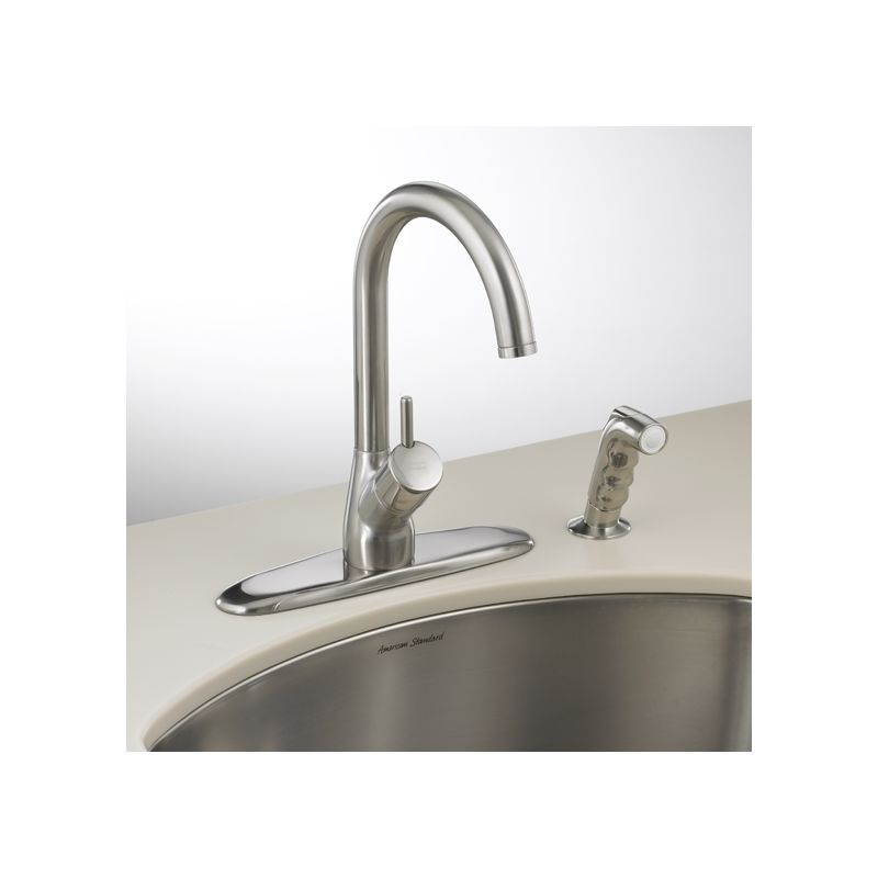 american standard single handle hi flow kitchen faucet with