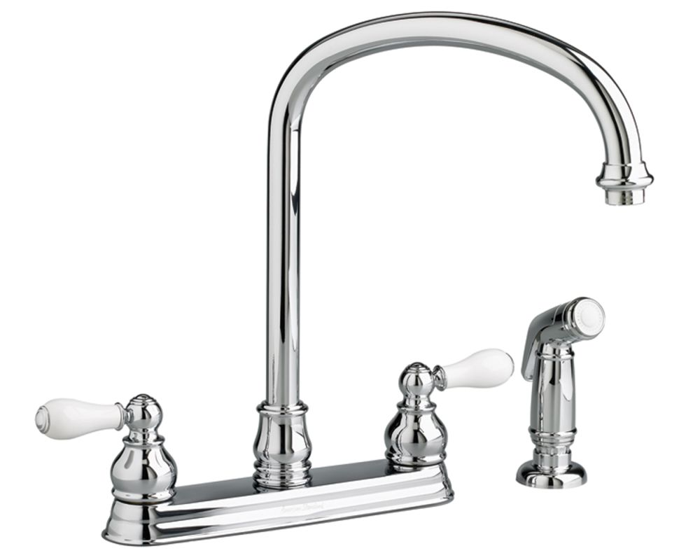 american standard chrome double handle kitchen faucet
