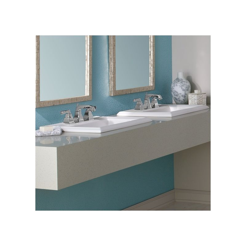 Square Drop In Bathroom Sink : ... 0700.008.020 White Town Square 23-1/8