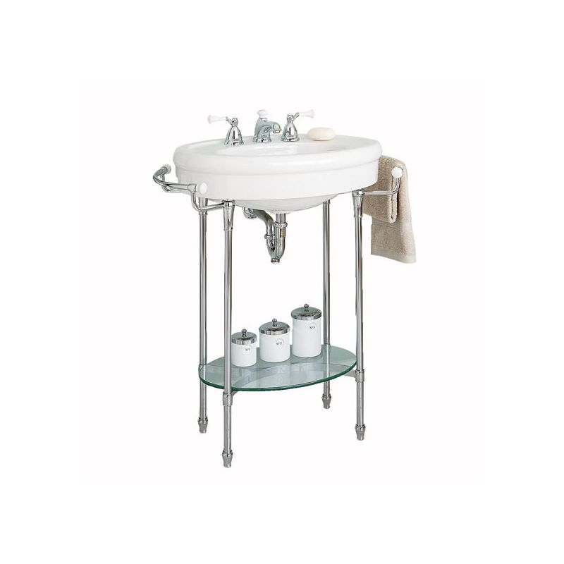 ... Fireclay Pedestal Bathroom Sink with 3 Holes Drilled and Overflow