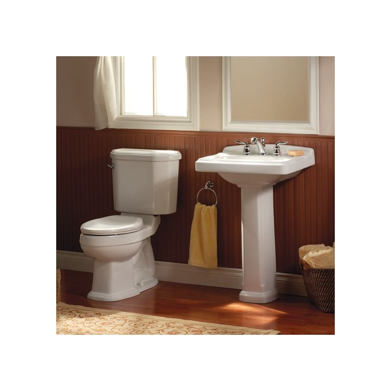 pedestal bathroom sink with pedestal 24 3 8 length and overflow