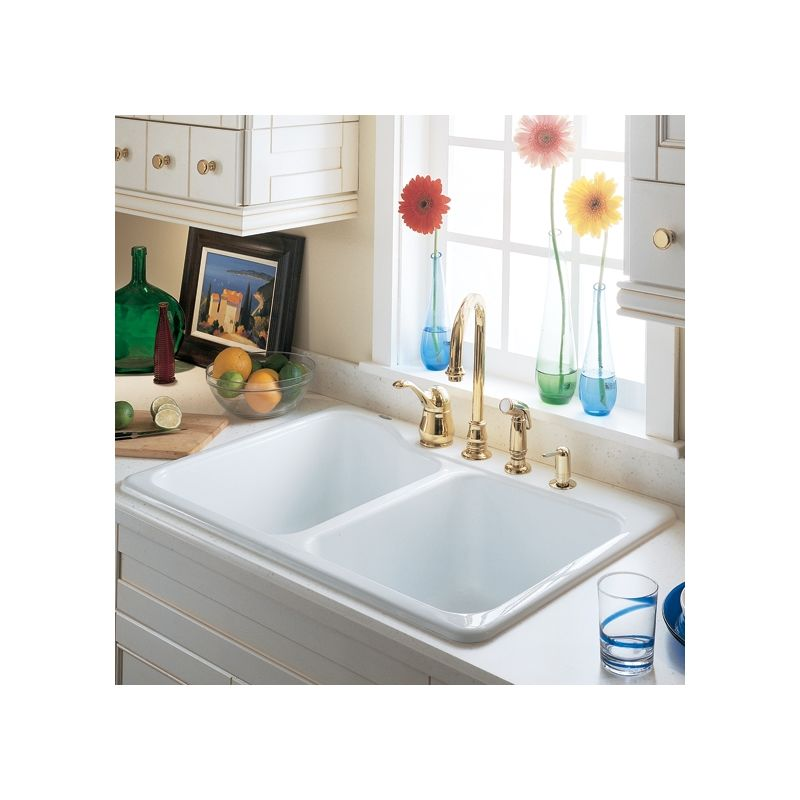 Americast Sink : Standard 7145.001.345 Bisque Double Basin Americast Kitchen Sink ...