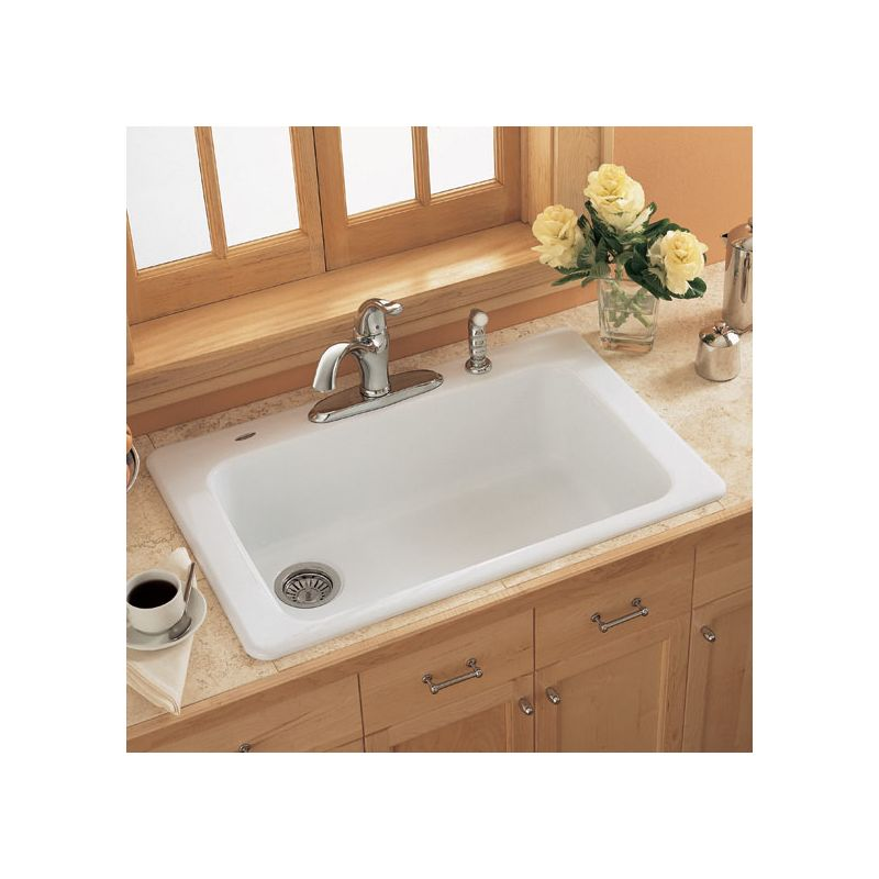 Americast Sink : ... Bisque Single Basin Americast Kitchen Sink from the Lakeland Series