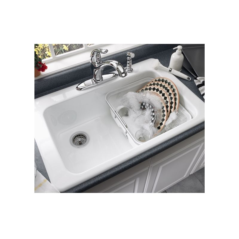 ... Bisque Single Basin Americast Kitchen Sink from the Lakeland Series
