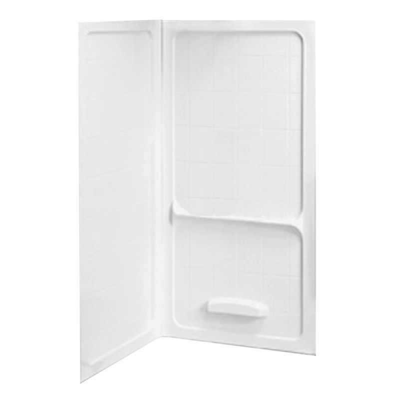 American Standard 3838.Y1CWT.020 White Corner Shower Wall Set 38 ...