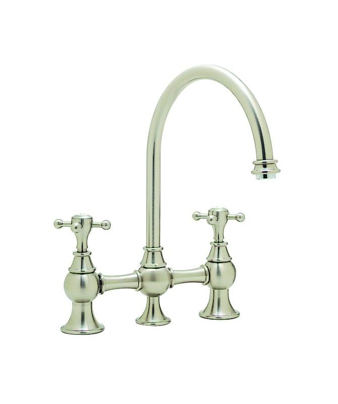 Blanco Kitchen Faucet Replacement Parts : Blanco 440679 Satin Nickel Double Handle Bar Faucet from the Bridge ...