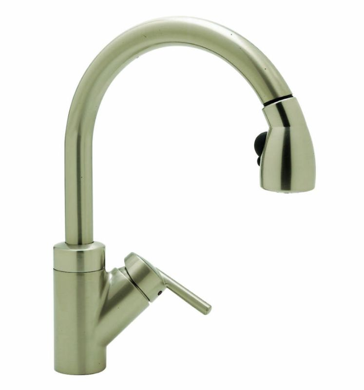 Blanco Kitchen Faucet Reviews : Blanco 440616 Satin Nickel Rados Single Handle Pullout Kitchen Faucet