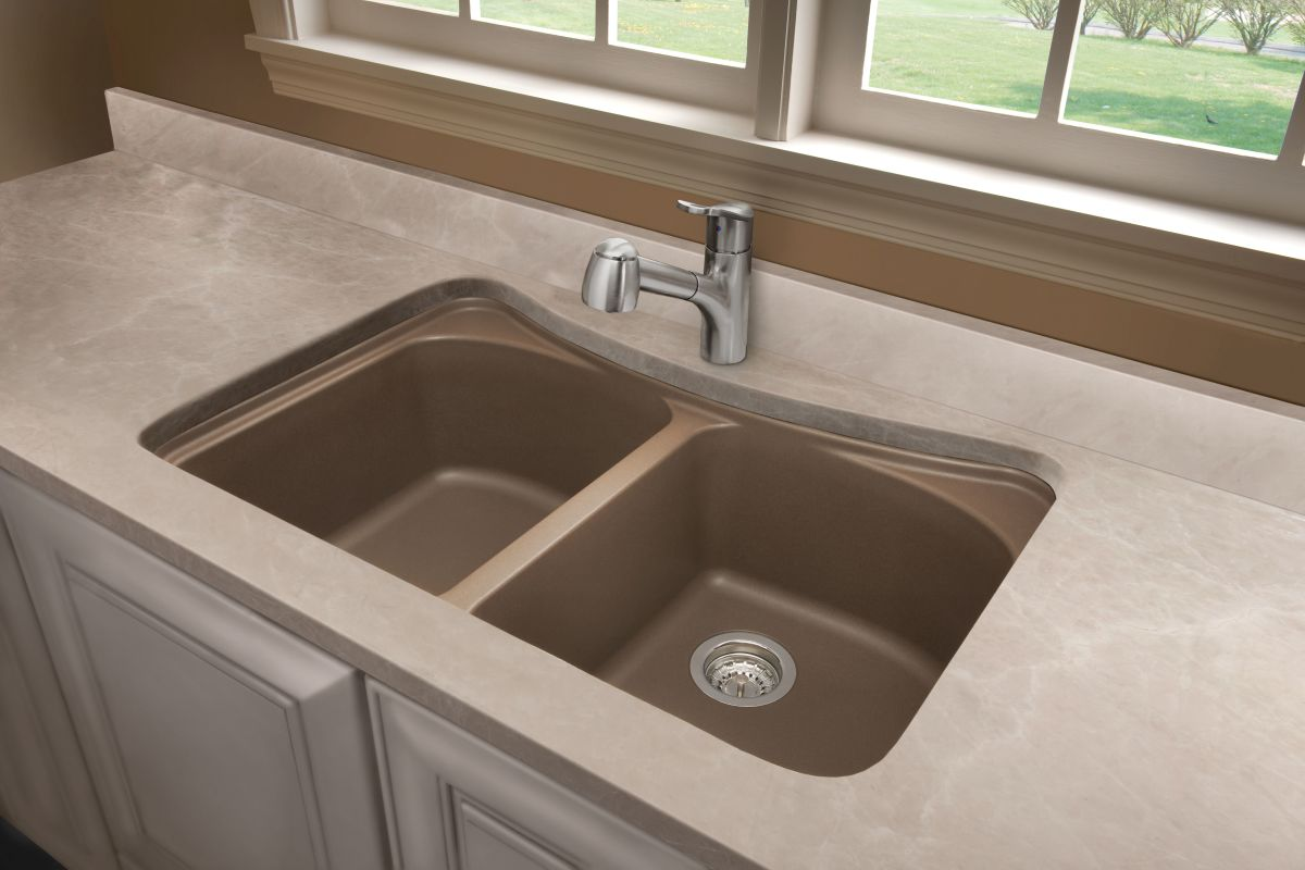 Blanco 446003 Cafe Brown Equal Double Basin Silgranit Kitchen Sink in ...