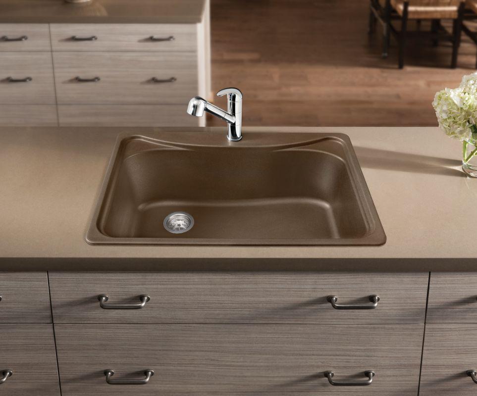 Blanco 446005 Cafe Brown Single Basin Silgranit Kitchen Sink in Cafe ...