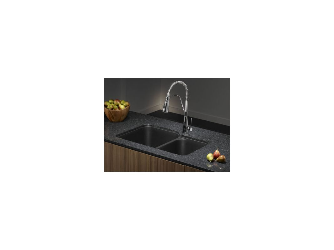 Anthracite Kitchen Sink : ... Anthracite Meridian Double Basin Undermount Silgranit Kitchen Sink