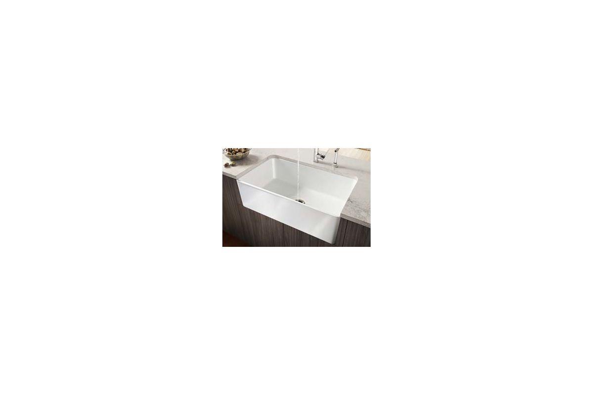 Blanco 441694 White Cerana 30-inch Farmhouse Kitchen Sink Apron-Front ...