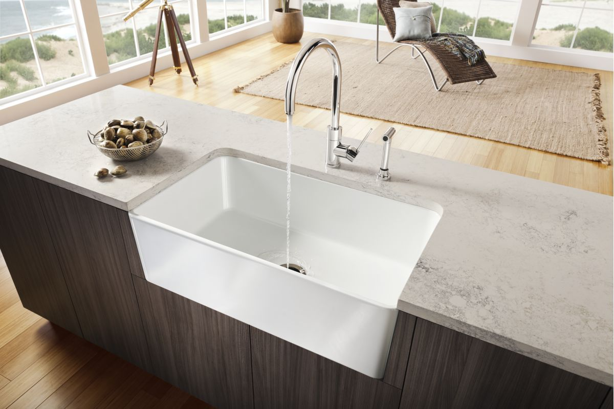 Blanco Farmhouse Sink : Blanco 441695 White Cerana 33