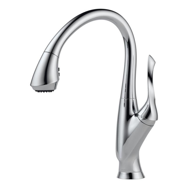 Brizo Kitchen Faucet : Brizo 63052LF-PC Chrome Belo Pull-Down Kitchen Faucet with Magnetic ...