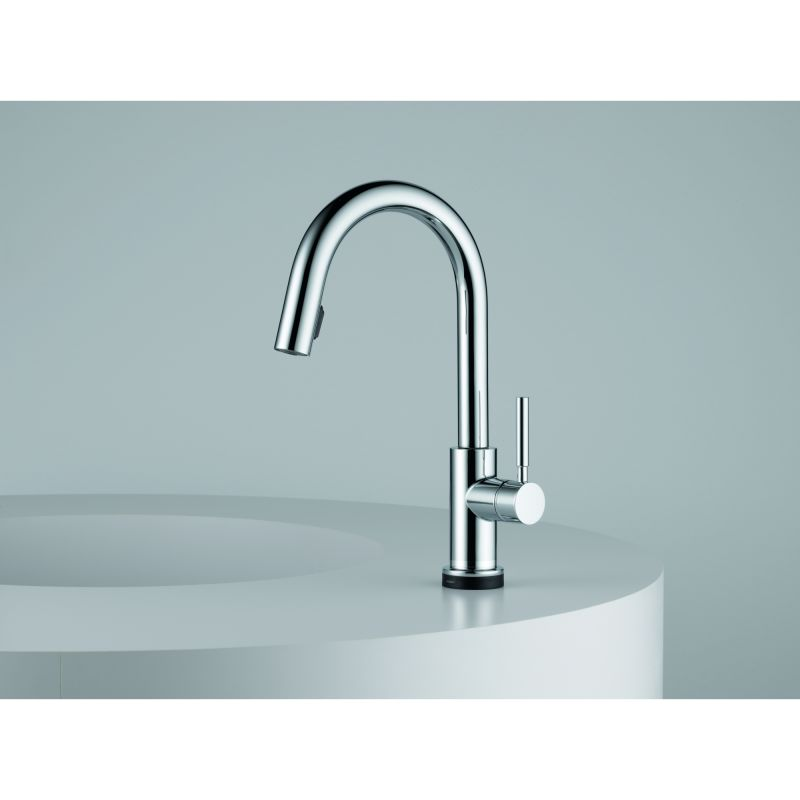 Brizo 64020LF-SS Brilliance Stainless Solna Pull-Down Kitchen Faucet ...