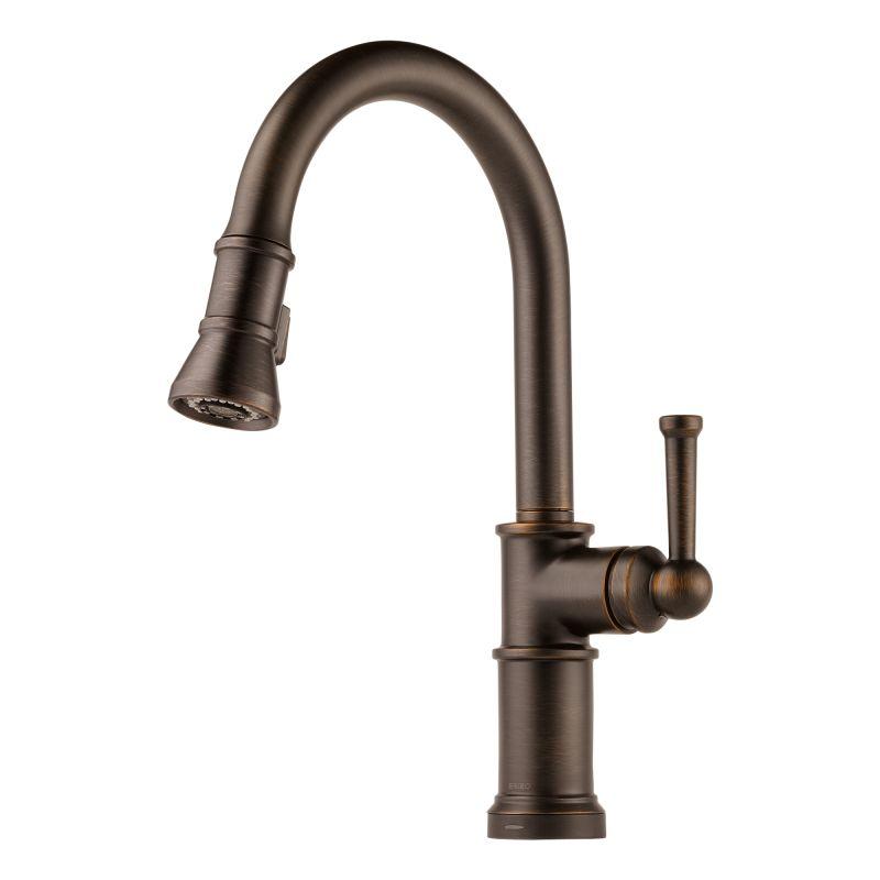 Brizo Kitchen Faucet : Brizo 64025LF-RB Venetian Bronze Artesso Pull-Down Kitchen Faucet with ...