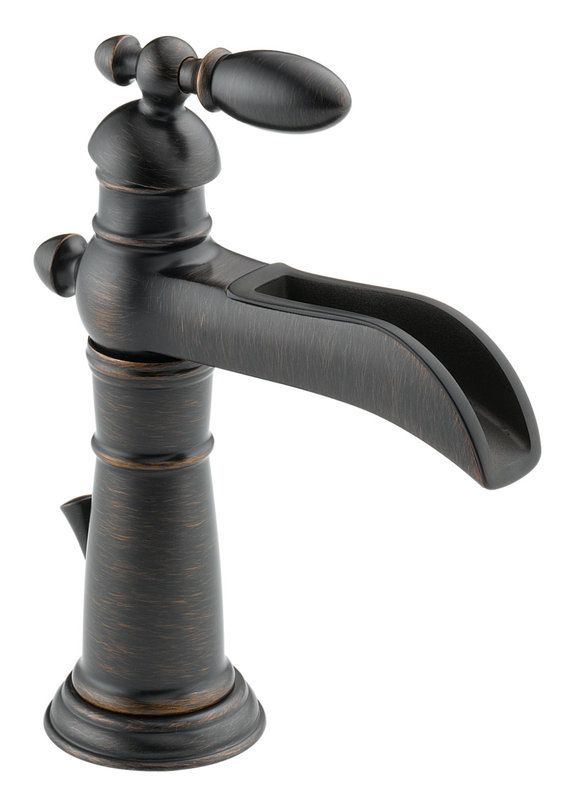 Delta Oil Rubbed Bronze Bathroom Faucet D554LF MX21312 ORB Oil Rubbed Bronze Delta Single Hole Bathroom Faucet