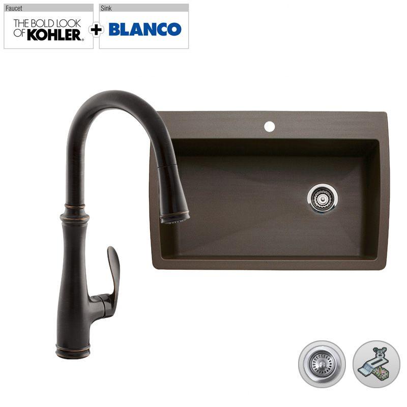 Blanco Faucet Reviews : Faucet.com B440192/K-5602BZ in Oil Rubbed Bronze (2BZ) Faucet by ...