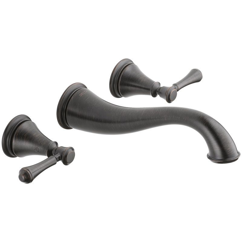 Delta Oil Rubbed Bronze Bathroom Faucet WL MX11058 ORB Oil Rubbed Bronze Delta Wall Mounted Bathroom Faucet