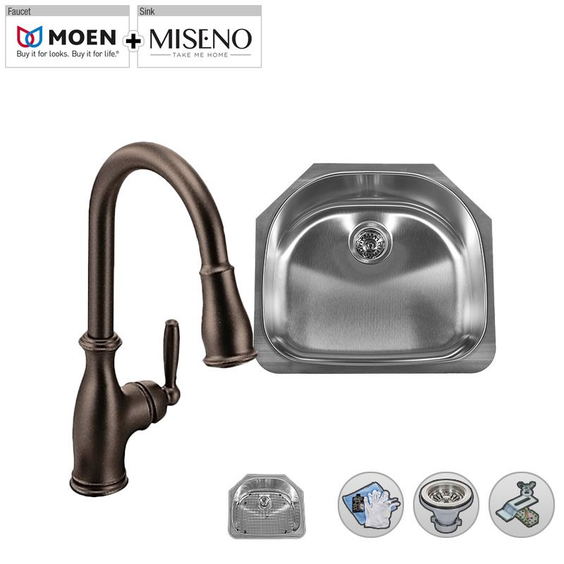 Mss162421c m7185 ob in oil rubbed bronze for Oiled bronze faucet with stainless steel sink