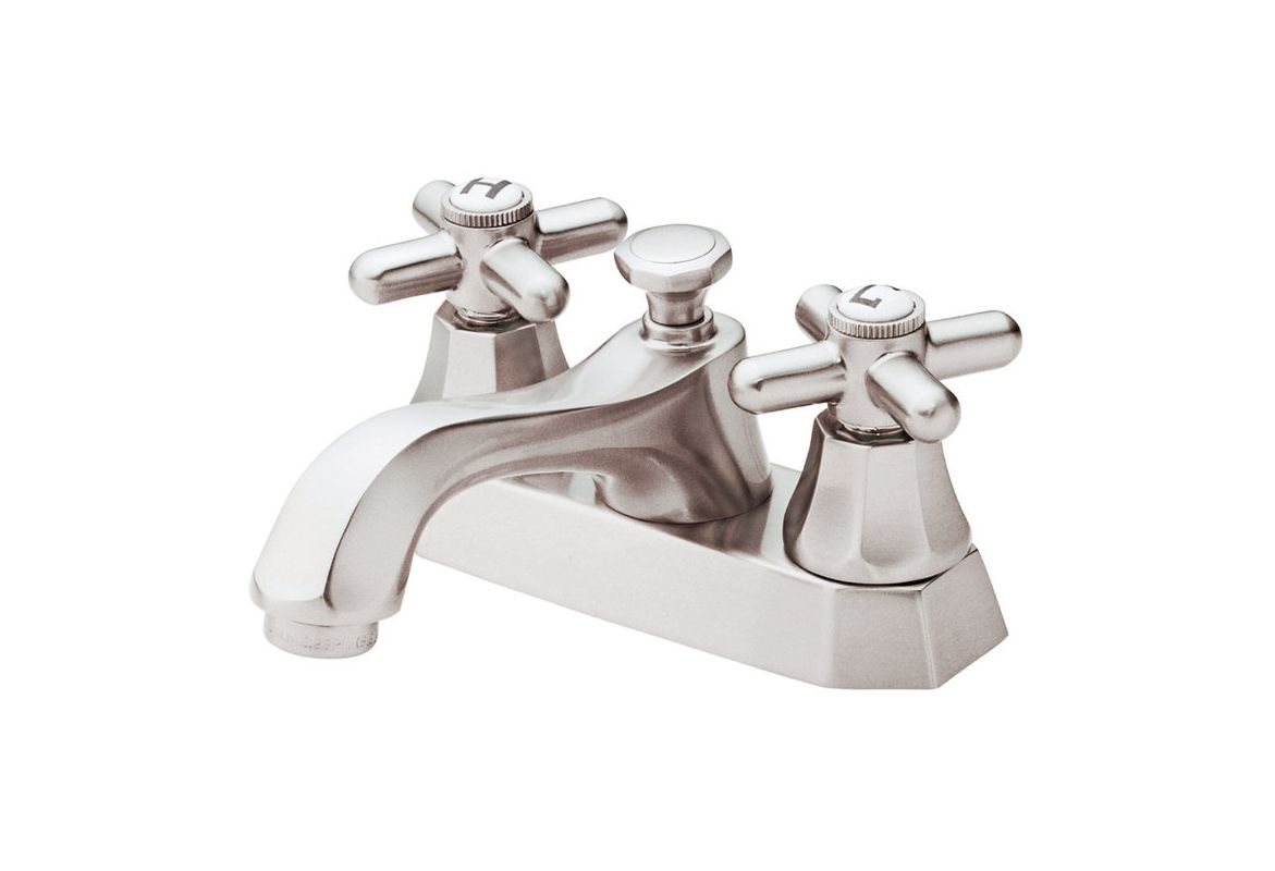 danze d301066bn brushed nickel double handle centerset bathroom faucet