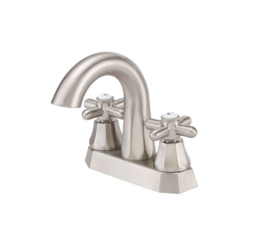 danze d301266bn brushed nickel double handle centerset bathroom faucet