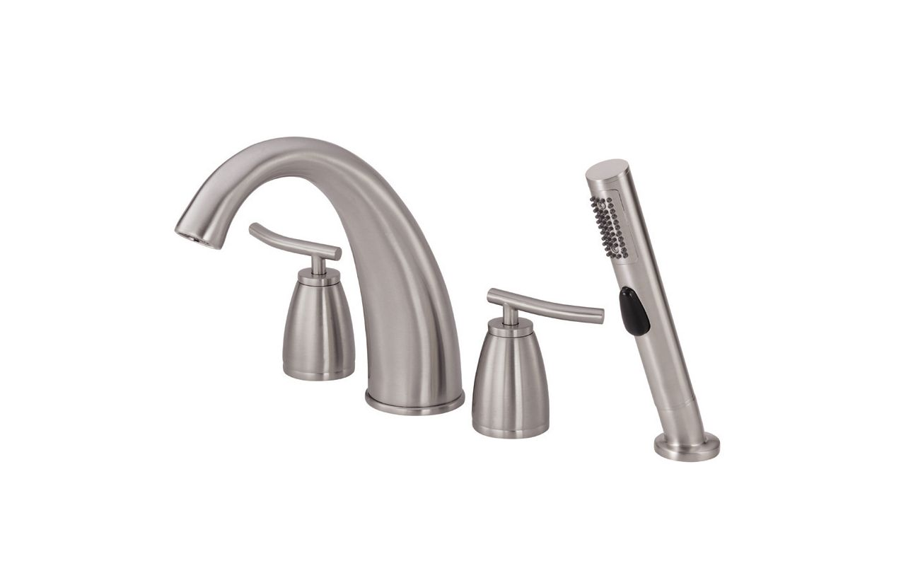 danze d303754bn brushed nickel deck mounted roman tub faucet trim and