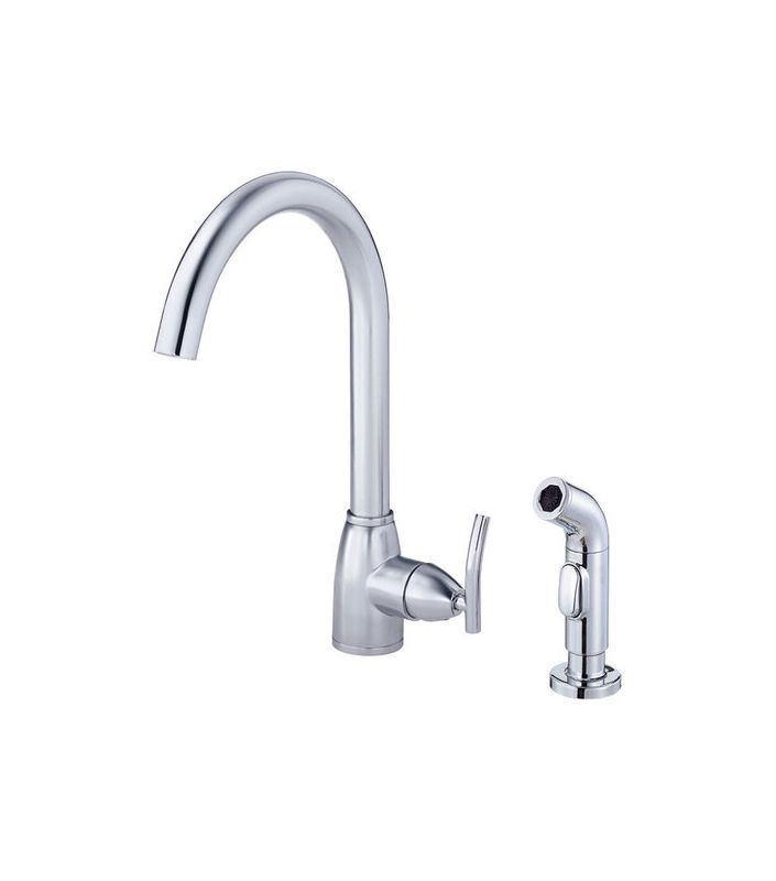 danze d401554 ac0ed011157 chrome single handle kitchen faucet with