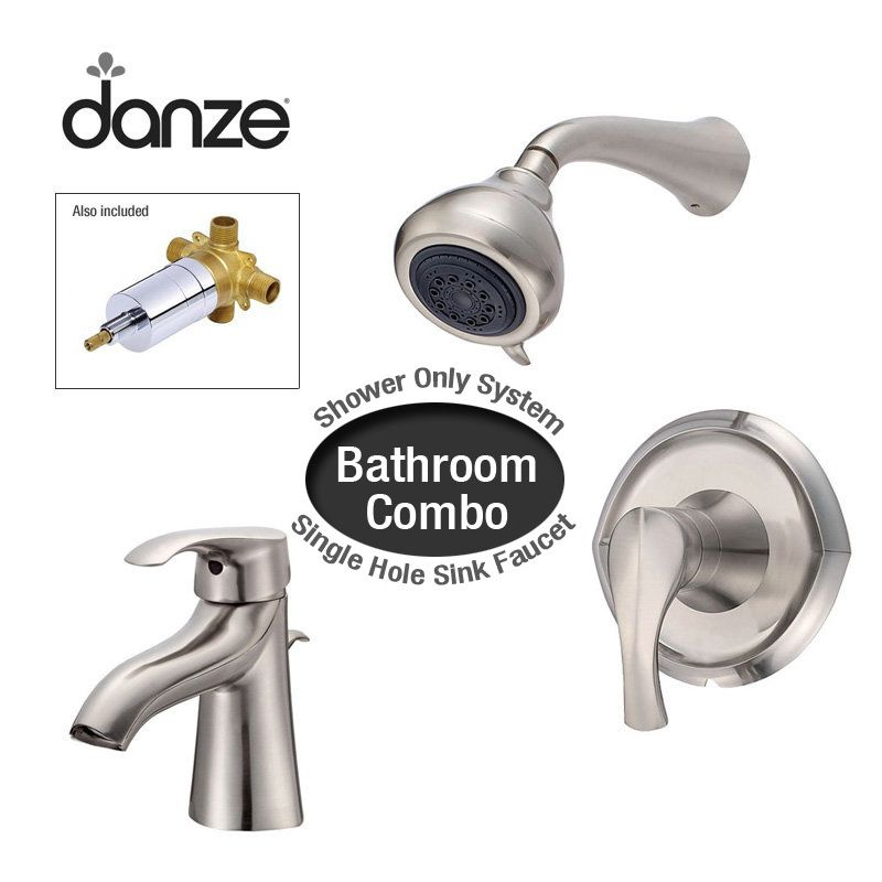 bathroom package includes single hole bathroom faucet and shower