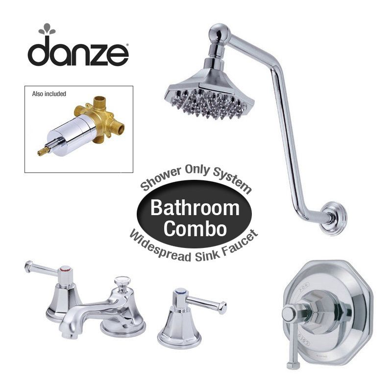 bathroom package includes widespread bathroom faucet and shower