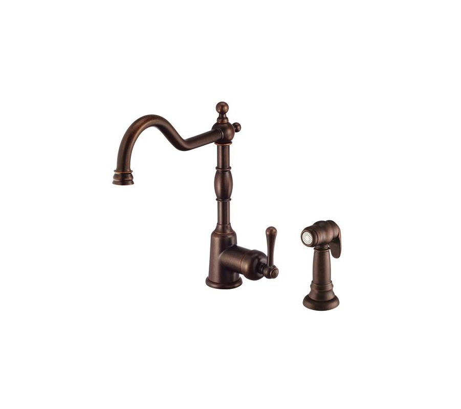 Danze Kitchen Faucet : Danze D401557BR Tumbled Bronze Kitchen Faucet - Includes Metal Side ...