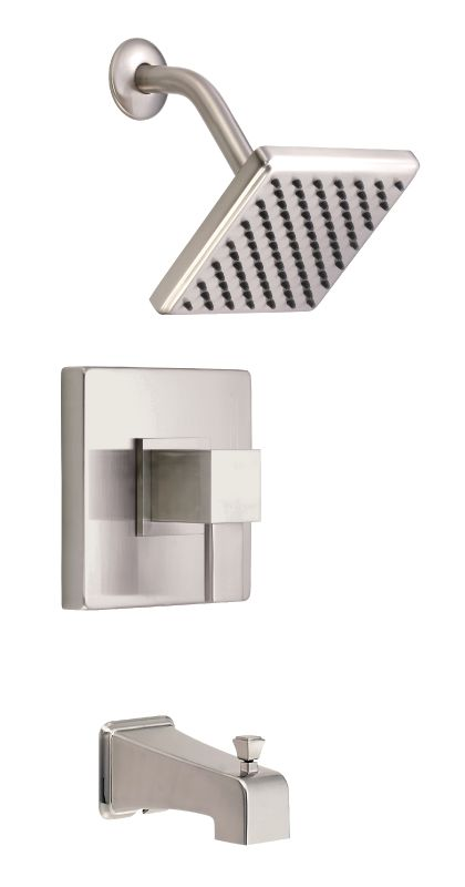 danze d510033bnt brushed nickel pressure balanced tub and shower trim