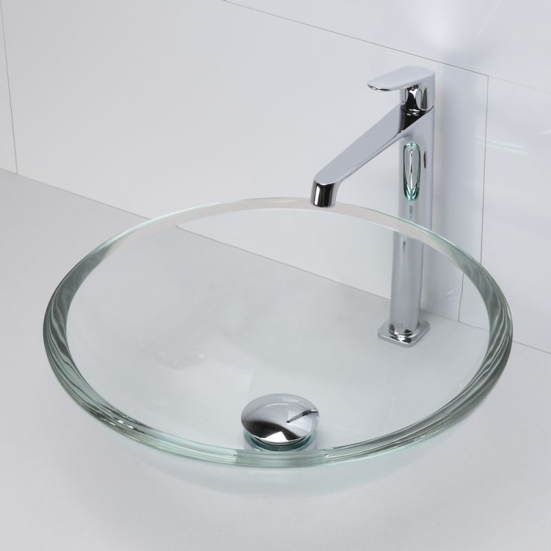 Decolav Sinks : DecoLav 1019T-FAM Frosted Amber Translucence 16-3/4