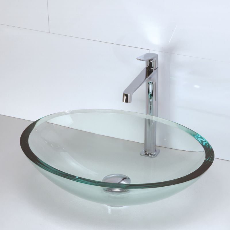 Decolav Sinks : DecoLav 1129T-FCR Frosted Crystal Translucence 20