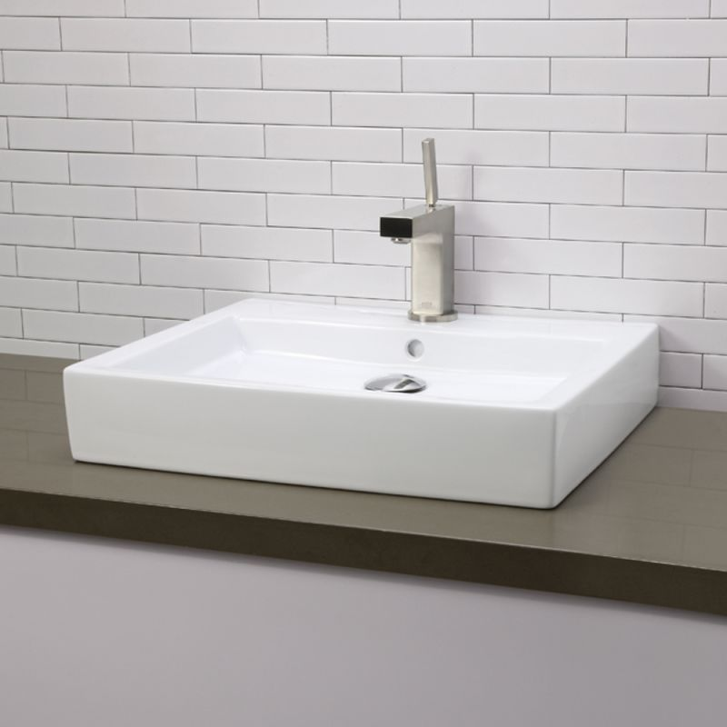 Decolav Sinks : DecoLav 1444-CWH Ceramic White Classically Redefined 22-1/4 ...