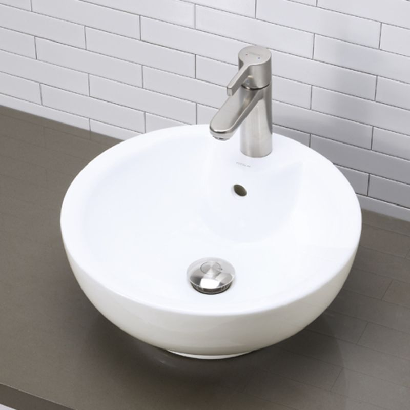 Decolav Sinks : DecoLav 1451-CWH White 16