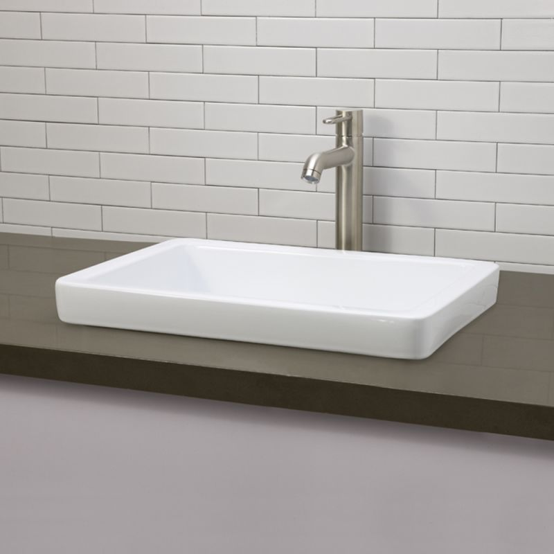 Recessed Bathroom Sink : ... 20-1/2