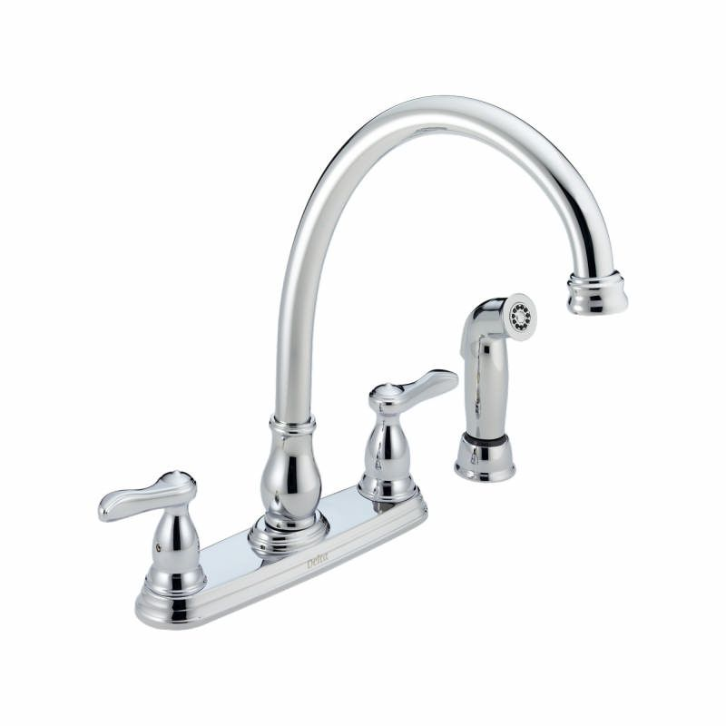 delta 2457 chrome orleans side spray kitchen faucet