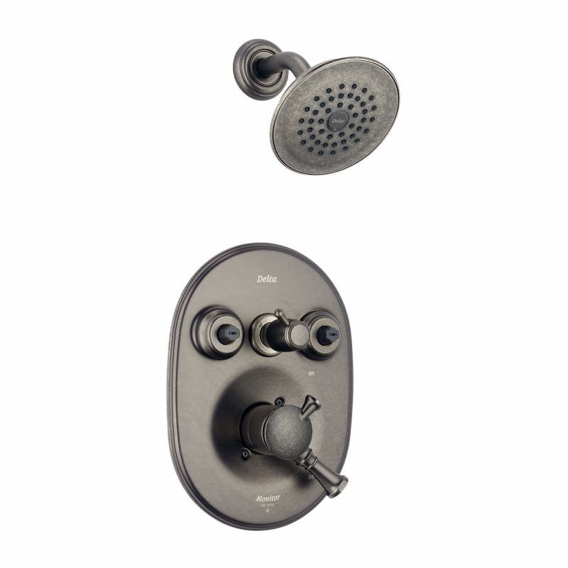 Faucet Com T18240 Pt In Aged Pewter By Delta