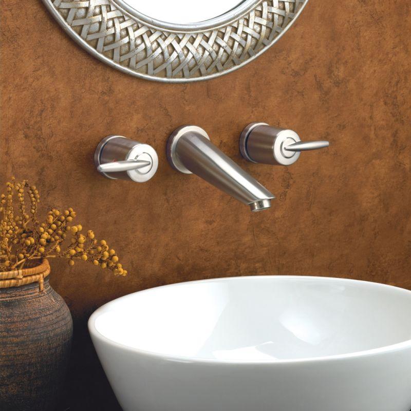 delta 3585lf wl chrome grail wall mounted bathroom faucet free drain