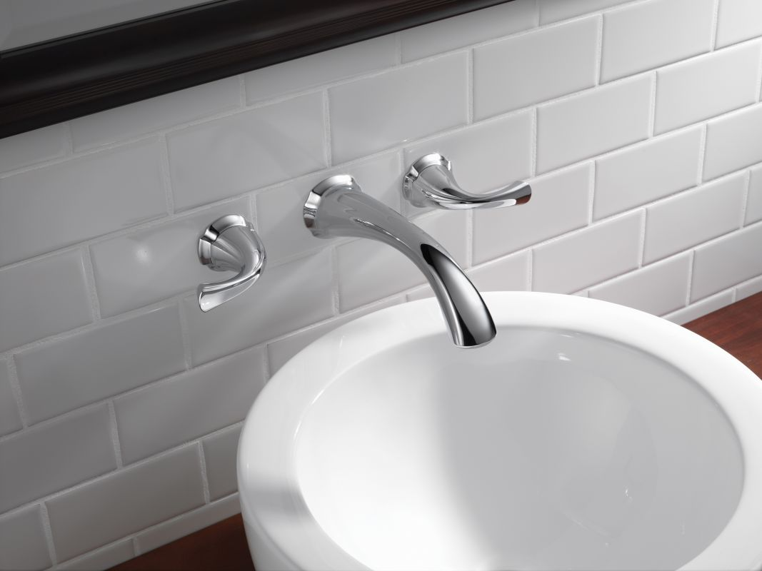 delta 3592lf wl chrome addison wall mounted bathroom faucet with pop