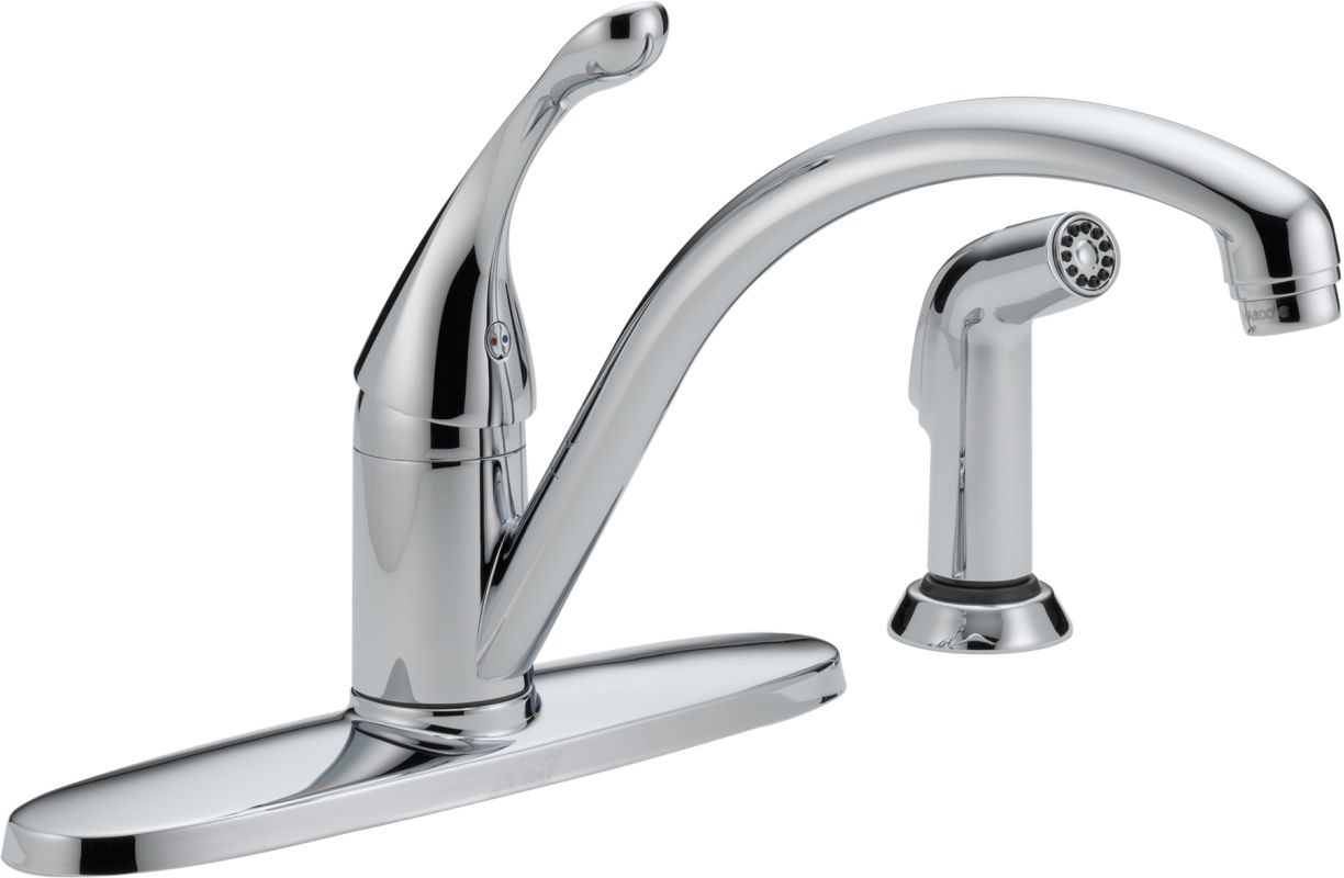 Pro Kitchen Faucet Faucet Com 440 Dst In Chrome By Delta