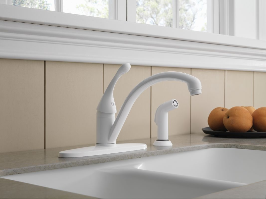 Delta Classic Kitchen Faucet 28 Delta White Kitchen Faucets Shop Delta Waterfall White